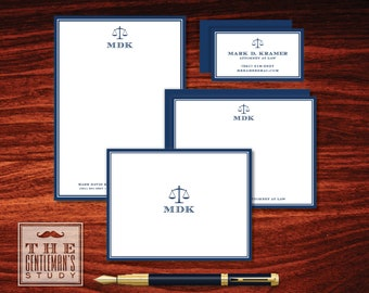 Scales of Justice Stationery Sampler
