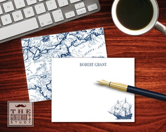 Clipper Ship Flat Note Cards