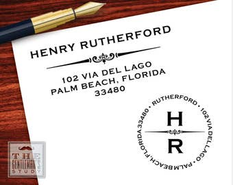 Gramercy Pre-Inked Address Stamp