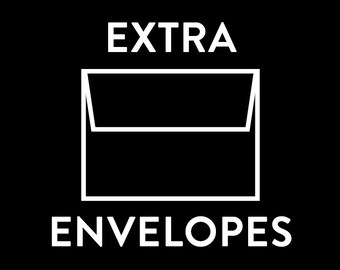 Extra Envelopes - Customization Add On