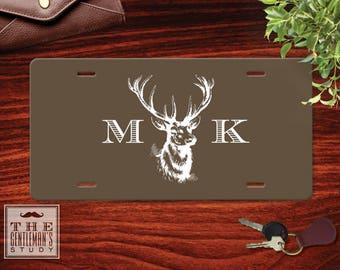 Buck Head Monogrammed License Plate