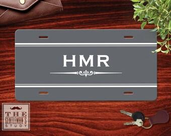 Gramercy Monogrammed License Plate