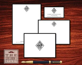 Diamond Monogram Stationery Sampler