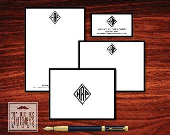 Diamond Monogram Big Stationery Bundle