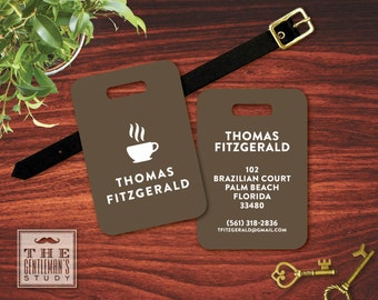 Espresso Personalized Luggage Tag