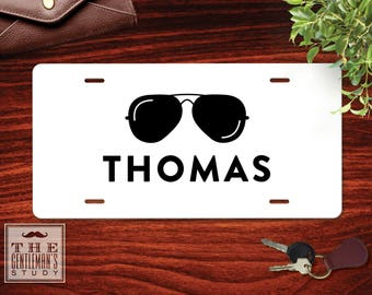Shades Personalized License Plate