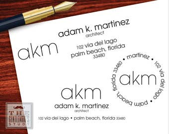 Modern Pre-Inked Address Stamp