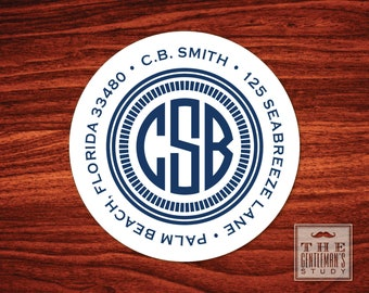 Camden Monogram Address Labels