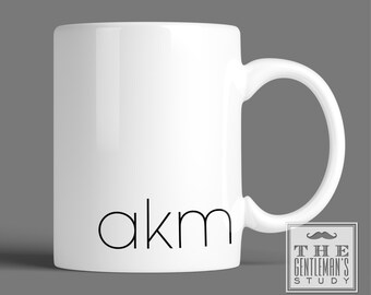 Modern Monogrammed Mug