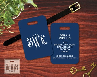 Regency Monogram Luggage Tag
