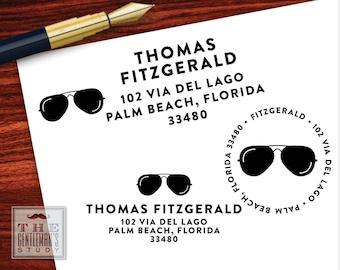 Shades Pre-Inked Address Stamp