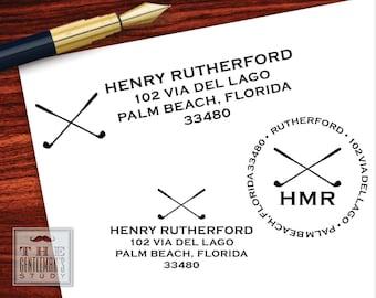 Fairway Pre-Inked Address Stamp