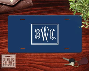 Regency Monogram License Plate