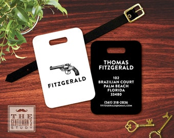 Vintage Pistol Personalized Luggage Tag