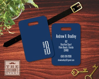 On the Edge Monogrammed Luggage Tag