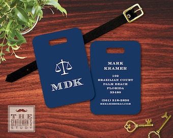 Scales of Justice Luggage Tag