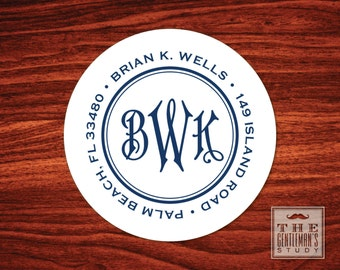 Regency Monogram Address Labels