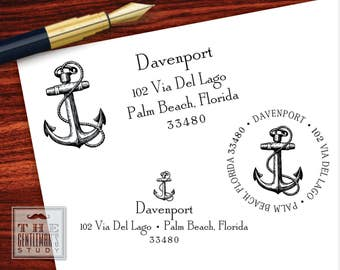Anchor Pre-Inked Address Stamp