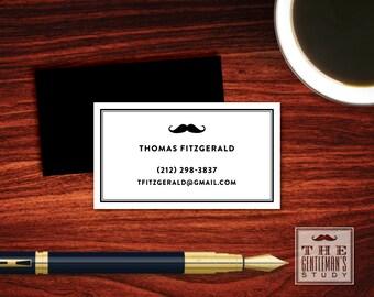 Moustache Calling Cards
