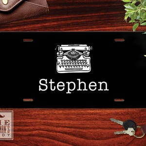 Monogrammed Car Tag Front Vanity Plate Espresso Personalized License Plate Coffee Theme Vanity Plate Custom Auto Accessory for Men