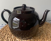 Brown Teapot England P K Betty Price and Kensington Excellent