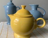 Fiesta Ware Teapot Large Sunshine Yellow Excellent Condition Homer Laughlin 5cup
