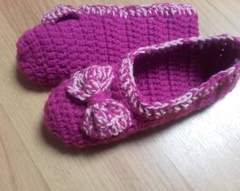 Slippers - hooked mocassins, handmade
