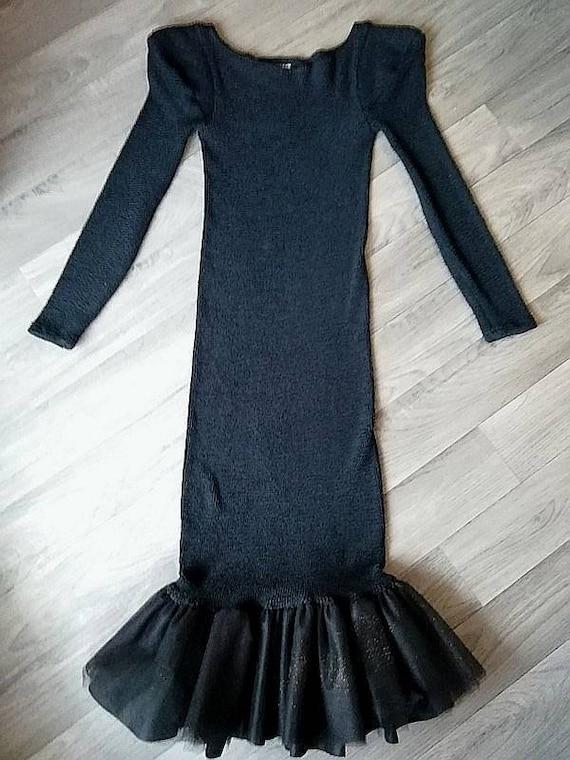 1990 Hunza London, long dress, vintage, long sleev