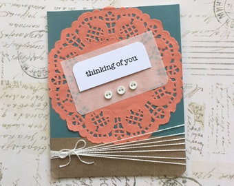 Thinking of You Cards - Hello Card, Just Because Cards, Handmade Greeting Card, Custom Hello Card, Hello Card Box Set, Hello Cards Box Set