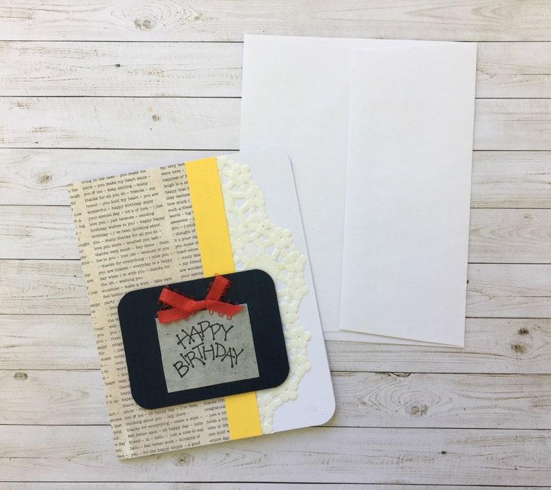 Custom Birthday Cards Gift Card For Him Her Handmade Greeting