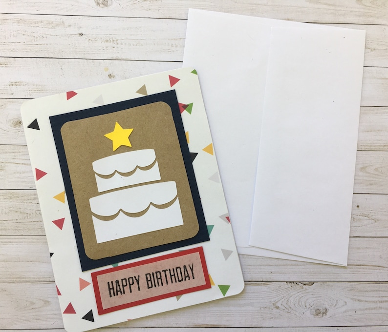 Custom Birthday Cards Cake Card Personalized