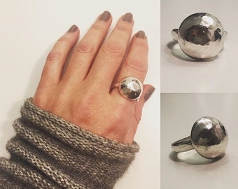 Hammered Dome Ring