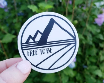 Free To Be Vinyl Sticker, Decals For Journals, Tumblers, Dream Boards + More