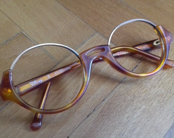 cf1b75ad5f Vintage kids Anglo American tortoise eyeglasses frames by Aprilia mod  Disney 4 from 80 s- made in Italy