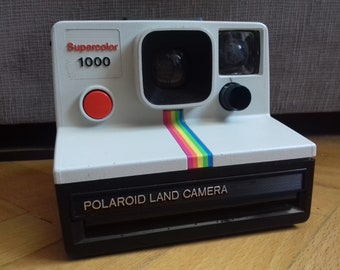 Vintage Polaroid Supercolor 1000 with red button- Made in UK/ Not working