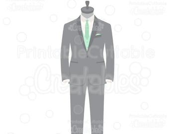 Wedding Groom Tuxedo SVG Cut File & Clipart E228 - Includes Limited Commercial Use!
