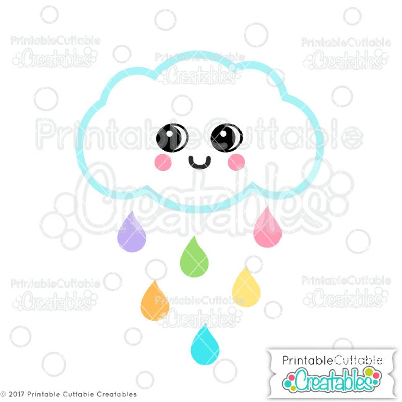picture relating to Printable Cuttable Creatables named Lovable Rain Cloud SVG Report Clipart E366 - svg, dxf, png, for Cricut, Silhouette Cameo Slicing Products - Features Confined Business Employ!