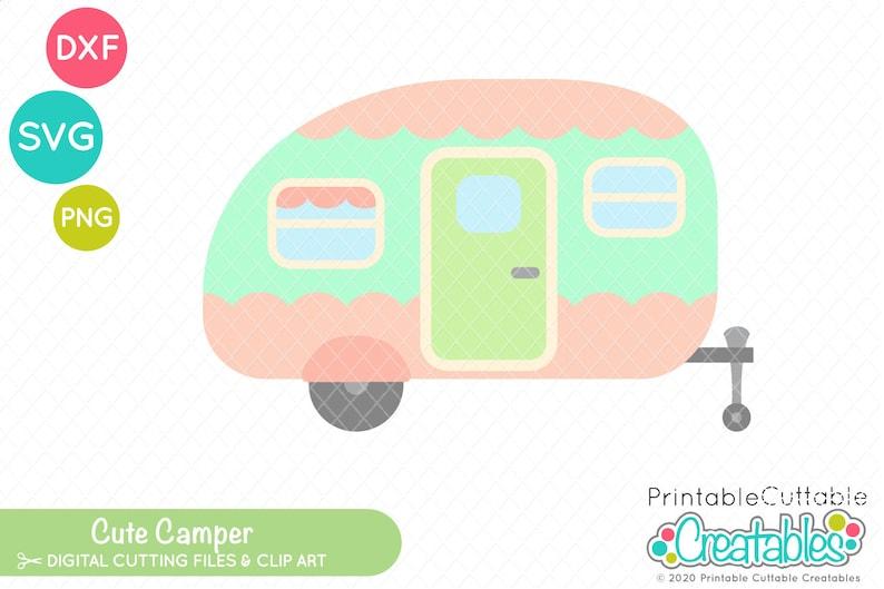 Camping SVG Cute Camper SVG File /& Clipart E548 Vintage Camper Svg Camper Svg File for Cricut