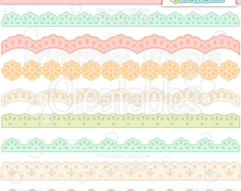 Sweet Lace Borders Set SVG Cut File & Clipart BF023 - Includes Limited Commercial Use!