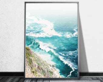 Aerial Beach Photography Ocean Wall Art Prints Aerial Photography Prints  Aerial Beach Print Ocean print Ocean Art Ocean Poster