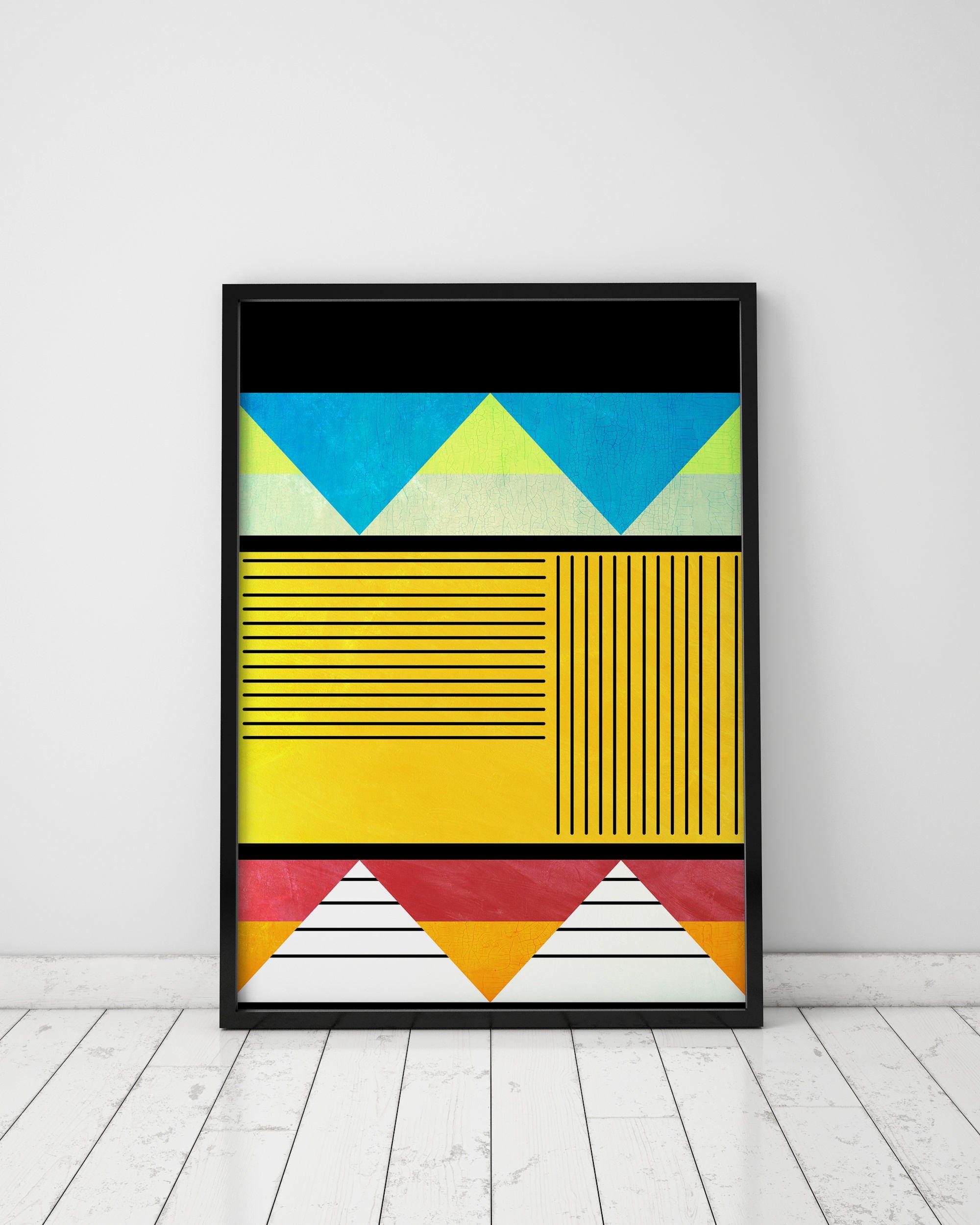 Geometric Art Prints Abstract Art Print Tribal Art Ethnic Wall | Etsy