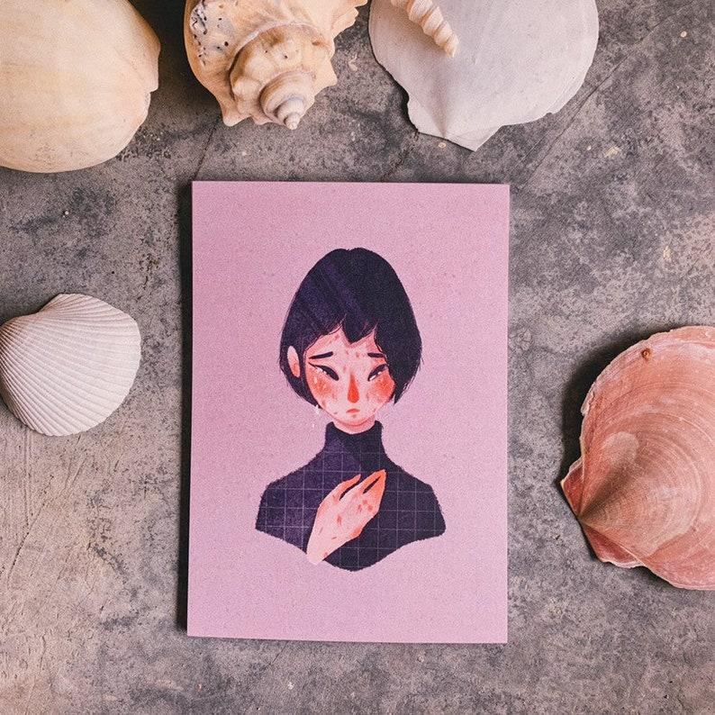 GIRL SERIES \u2022 A6 Art Print