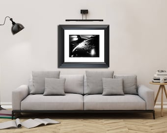 Still Life Photograph Harley in the Rain - Fine Art Canvas - Home Decor Wall Art Prints Unframed