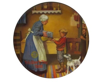 "Knowles Norman Rockwell Collectable Plate ""The Pantry Raid"""