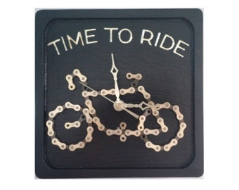 Time to Ride Bicycle Chain Clock