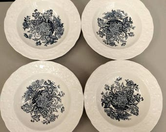 Vintage Ascot On Oak by Mason's set of 4 Fruit bowls
