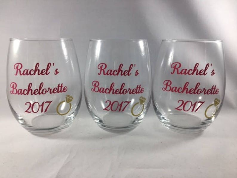 00c16f35780 Stemless wine glasses Bachelorette party Bridal party gifts | Etsy