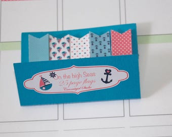 Page flags | nautical theme | sailboat | Planner stickers