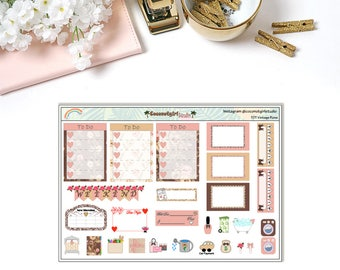 Two Dollar Tuesday Vintage Rose | Planner stickers