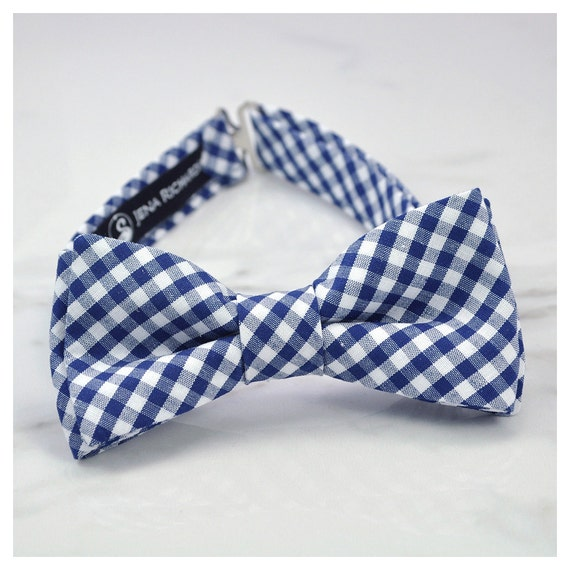 Boys Bow Ties Kids Bows Baby Bow Ties Navy Gingham Bow Ties| Checkered Bow Ties Adjustable Bow Ties Toddler Bow Ties Gifts for Boys